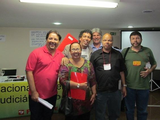 Delegação do Sisejufe participou do Encontec no  último sábado (31/05), em Brasília   Foto: Marina Schneider