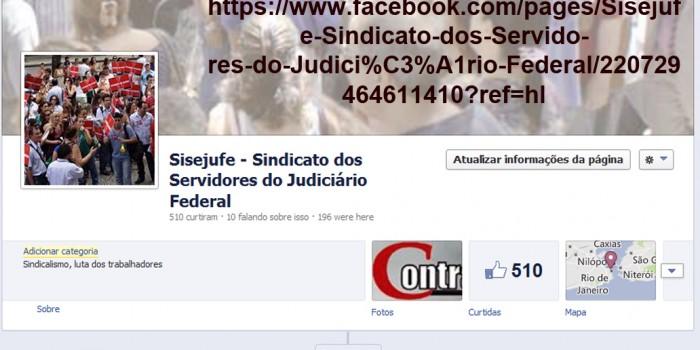 Curta e acompanhe o Sisejufe nas redes sociais