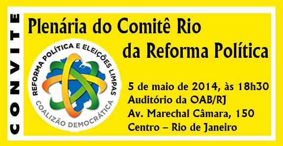 Plenária do Comitê Rio da Reforma Política