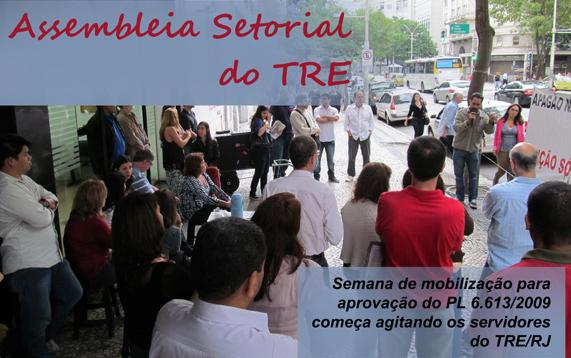 Servidores do TRE do Rio dão a largada na semana de mobilização com assembleia setorial