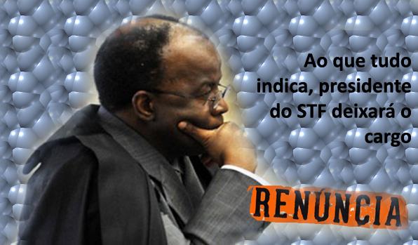 Segundo edição especial do Jornalismo da GloboNews, Joaquim Barbosa renuncia à Presidência do STF
