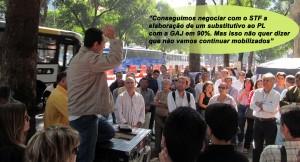 Valter Nogueira, diretor-presidente do Sisejufe, conclama aos trabalhadores para o fortalecimento da mobilização
