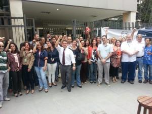 Mobilização dos servidores no Forum da JF Venezuela em apoio aó Ato Público realizado em Brasília nessa terça-feira, 27/08/2014