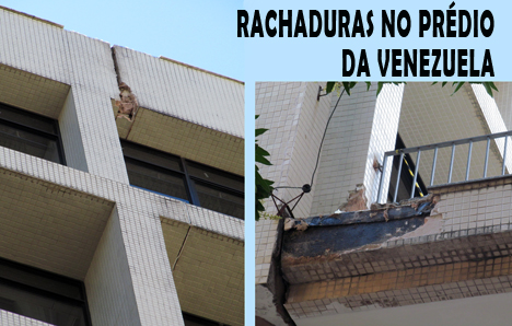 Problemas das rachaduras nos prédios da Justiça Federal na Avenida Venezuela têm destaque na mídia.