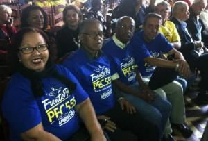 Representantes do Sisejufe marcam a presença do Sisejufe no I Encontro Unificado de Aposentados e Pensionistas da Frente Rio PEC 555