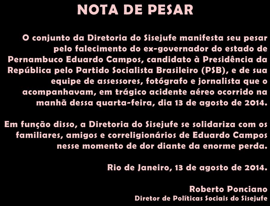 NOTA DE PESAR EDUARDO CAMPOS1