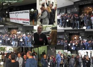 Servidores do TRE participam massivamente da paralisação, apontando muita energia para a greve