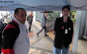 Roberto Ponciano e Ricardo Quiroga mobilizam os servidores do TRT1