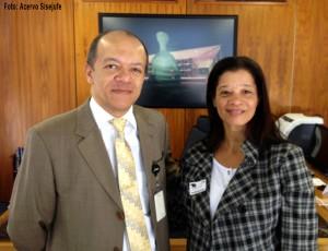 Vera Miranda, assessora política do Sisejufe, é recebida pelo diretor-geral do Supremo Tribunal Federal. Na ordem do dia, o PL 6613/09