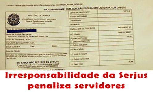 Serjus perde ação temerária do PSS e servidores pagam custos do processo