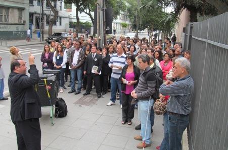 Manifestação mostra que servidores estão apreensivos com problemas no Foro da Venezuela