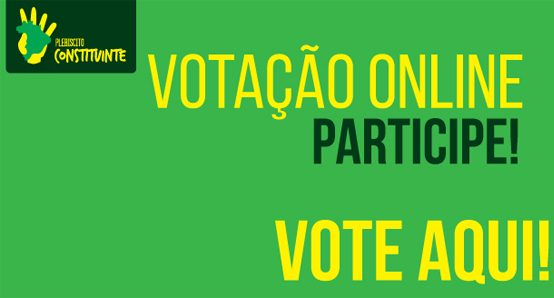 Vote on-line no Plebiscito Popular pela Constituinte