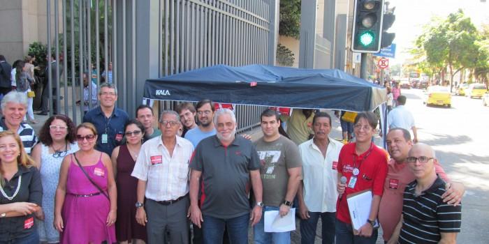Ato no TRT da Lavradio intensifica mobilização pela aprovação do PL 7.920