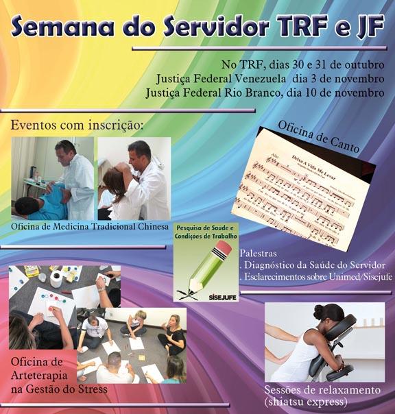 SEMANA DO SERVIDOR  TRF2 E JUSTIÇA FEDERAL