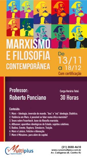 Curso de Extensão Universitária: Marxismo e Filosofia contemporânea