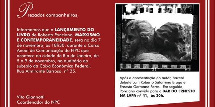 Sindicalista lança dia 7 de novembro livro 'Marxismo e Filosofia Contemporânea'