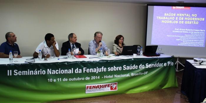 Sisejufe apresenta pesquisa sobre condições de saúde no Judiciário fluminense em Seminário da Fenajufe