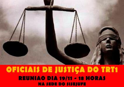 Nojaf convoca reunião no dia 19 de novembro, às 18h, com oficiais de justiça do TRT do Rio
