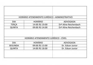 horario juridico
