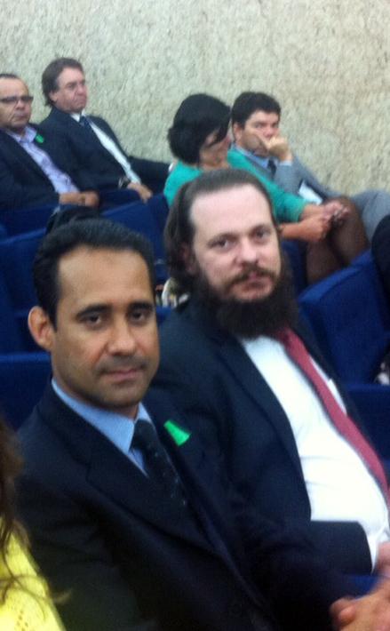 Presdiente do Sisejufe, valter Nogueira, acompanha o julgamento na Corte Especial do TRF1