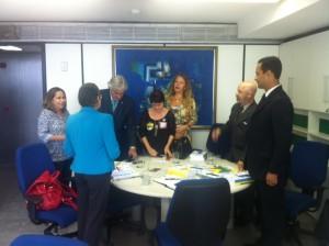 Valter Nogueira, presidente do Sisejufe, participa com líderes sindicais de reunião com senador Delcídio Amaral