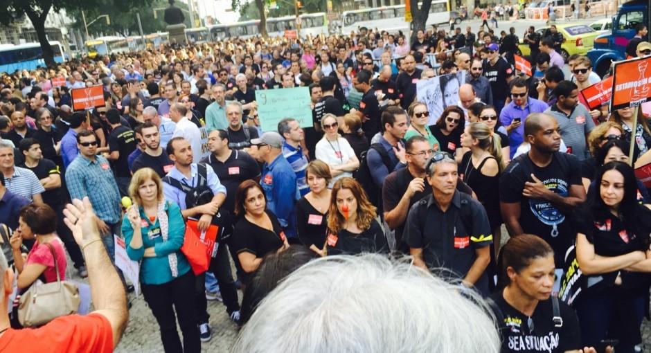 Fotos da Passeata dos servidores do Judiciário Federal do Rio