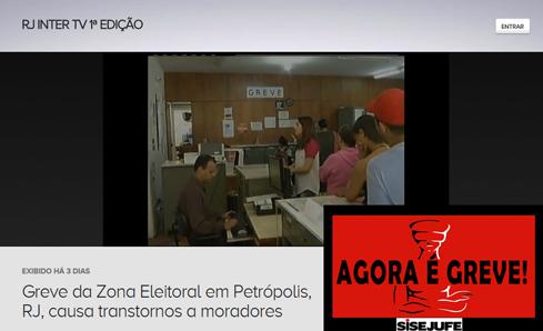 Greve em Petrópolis na imprensa