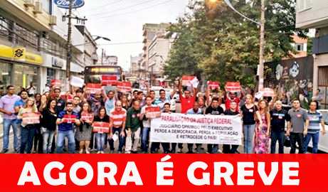 Passeata unifica Judiciário Federal em São Gonçalo