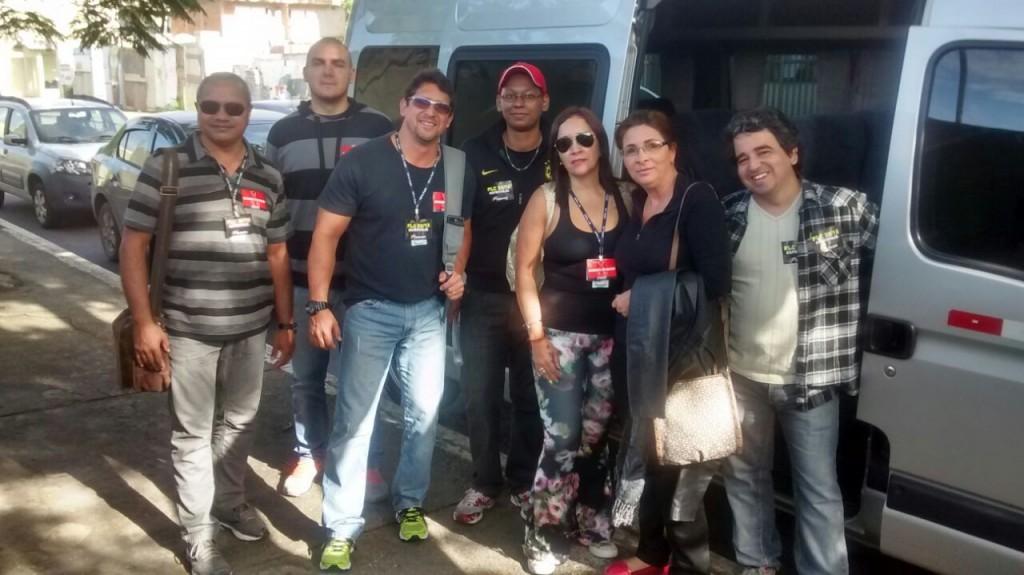 Rumo ao centro do Rio, servidores de Cabo Frio mostram disposição para a passeata