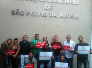 Presidente do Sisejufe, Valter Nogueira, visita servidores de São Pedro da Aldeia