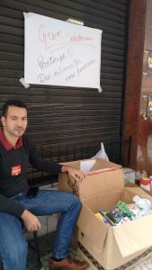 Servidores do TRF fazem doações no primeiro dia da greve solidária