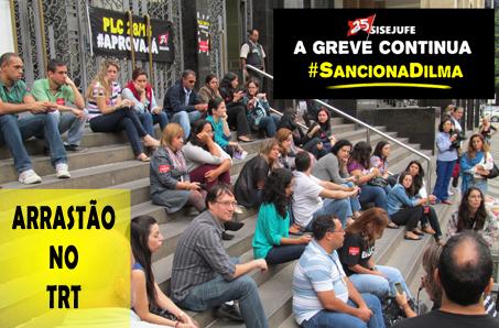 """""""Arrastões"""" vão """"invadir"""" o prédio do TRT da Antônio Carlos na semana que vem"""