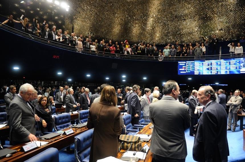 Senado aprova, finalmente, o PLC 28/15. Categoria judiciária, que ocupou as galerias, comemorou