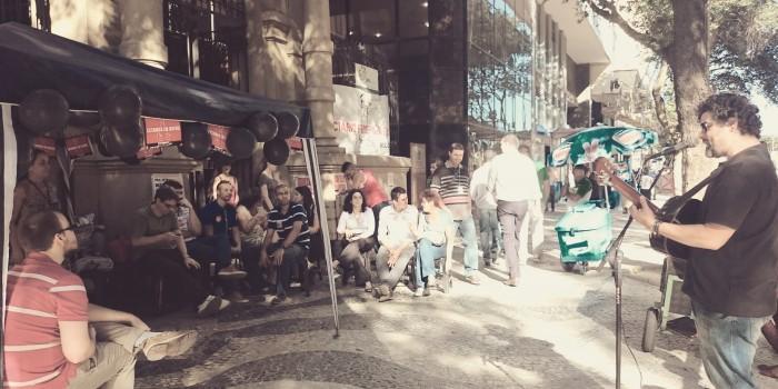 Sarau mobiliza servidores do Judiciário Federal em greve