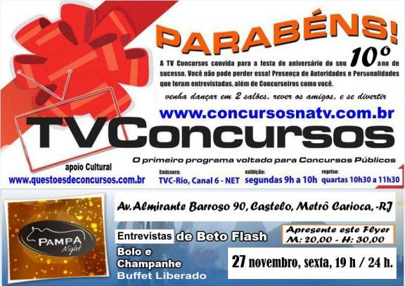 TV Concursos, canal criado por servidor do TRE-RJ, completa 10 anos com festa e novos projetos