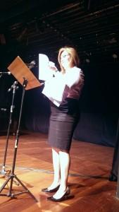 diretora do Sisejufe Fernanda Picorelli, mestre de cerimônias do Encontro