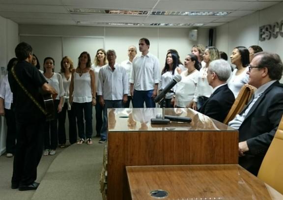Coral do Sisejufe contagia participantes na abertura da Semana do Servidor do TRE