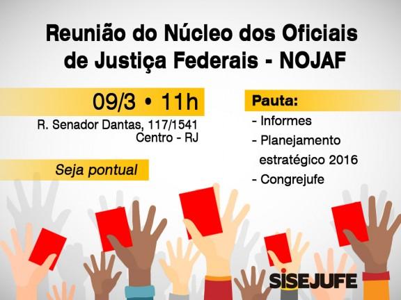 Nojaf convoca oficiais de justiça para reunião na quarta (9/3), às 11h