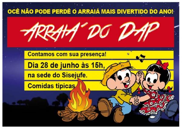 Festa junina marcará reunião do DAP dia 28 de junho