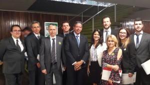 Deputado Arthur Lira, presidente da CMO, recebeu os líderes sindicais