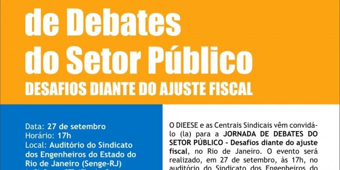 Centrais e sindicatos promovem Jornada Nacional de Debates do Setor Público