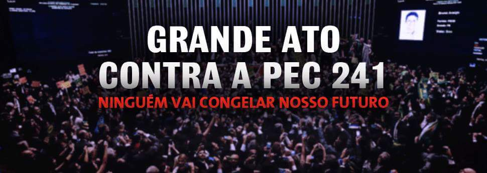 Caravana do Sisejufe vai a Brasília contra a PEC 241