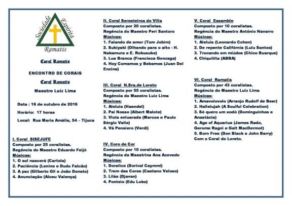 Coral do Sisejufe se apresenta neste domingo na Tijuca