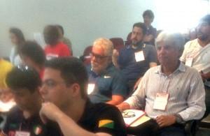 Os diretores Amauri Pinheiro e Ronaldo das Virgens representaram os servidores do Rio de Janeiro