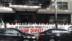 Servidores do TRE e trabalhadores de Volta Redonda unidos contra os ataques do Governo Temer