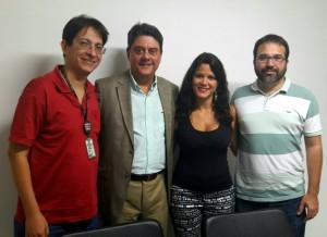 Da esquerda para direita: diretor Ricardo Quiroga, deputado Wadih, diretora Fernanda Lauria e o servidor Pablo Barros