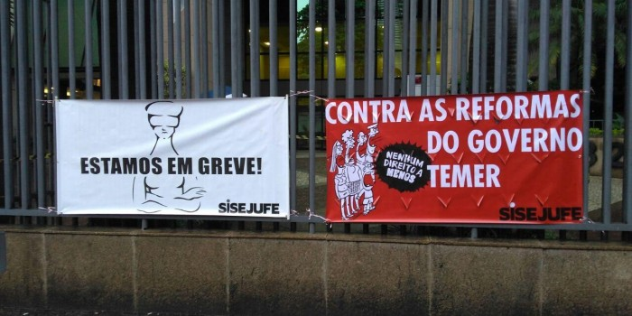 A greve geral já começou nos tribunais no Rio