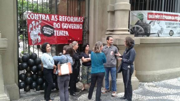Servidores do Judiciário Federal aderem à Greve Geral no Rio