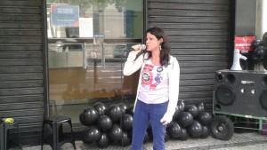 A diretora do Sisejufe Fernanda Lauria conclamou a participação dos servidores do TRE