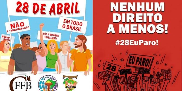 CONVOCAÇÃO FRANCISCANA PARA AS MOBILIZAÇÕES DE 28 DE ABRIL